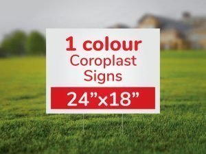 Screen Printed Coroplast Signs 24×18